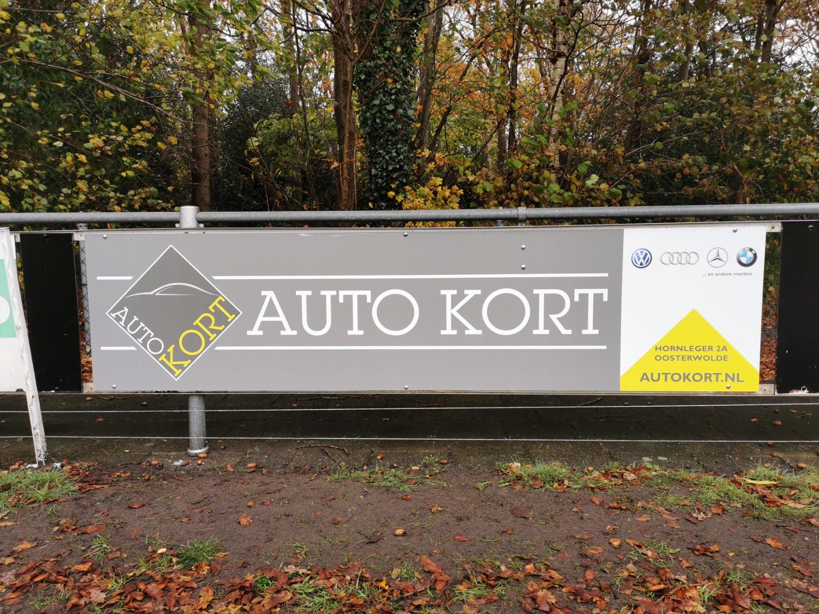 Nieuwe sponsoren Auto Kort en H & L Trouwservice